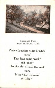 Maine Greetings From West Franklin 1917