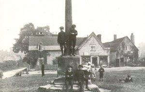 Meriden Village Centre Of England Cross Warwickshire Real Photo Postcard