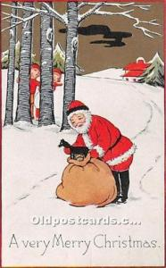 Santa Claus Postcard Old Vintage Christmas Post Card 1916