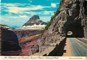 Montana Mt Clements Eastside Tunnel Glacier National Park logan Postcard  # 6666