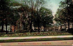 Michigan Detroit Grand Circus Park Flower Bed 1919