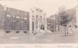 Kentucky Morehead Gymnasium & Auditorium Real Photo RPPC