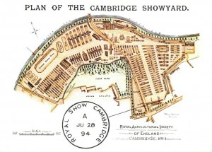Postcard 1984, Plan of Cambridge Showyard, 1894 Royal Agricultural Show BR5