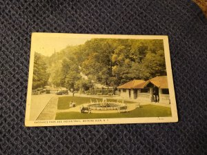 Vtg 1934 Entrance Park and Indian Trail, Watkins Glen, NY Postcard