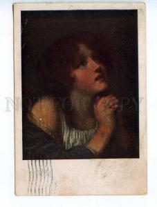 249892 Russia Greuse Pray girl head Vintage Fedorov RPPC