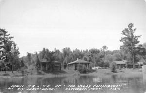 Waubun Minnesota Big Elbow Lake Real Photo Antique Postcard K24522