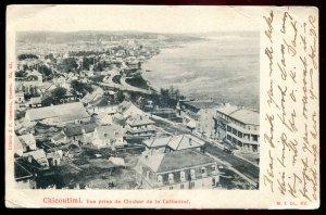 dc1188 - CHICOUTIMI Quebec Postcard 1900s Birds Eye View