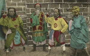 indochina, ANNAM HUÉ, Head of King's Comedians & Three Key Players (1910s) (I)