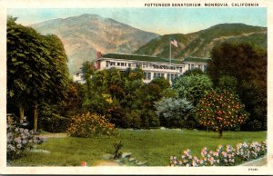 California Monrovia The Pottenger Sanatorium Curteich