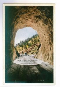 Looking Through Tunnel, Corley Mountain Highway Colorado unused PPC