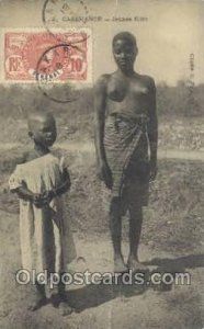 Casamance Jeunes Filles African Nude 1918 very light crease top and bottom ed...