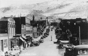 Cripple Creek Colorado~Bennett Avenue~Vintage Traffic Light~1940s Sanborn RPPC