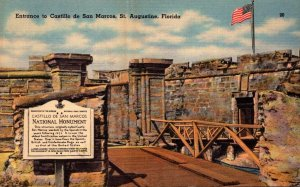 Florida St Augustine Entrance To Castillo de San Marcos