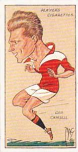 Player Vintage Cigarette Card Football Caricatures By Mac 1927 No 7 Goerge Ca...