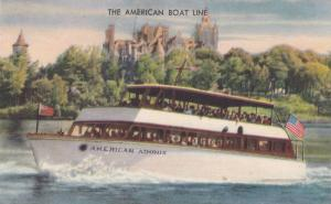 The American Baot Line, American Adonis passing the famous Boldt Castle, Thou...