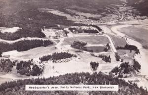 Fundy National Park New Brunswick Vintage Birds Eye Real Photo Canada Postcard