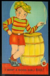 I Want a Good Girl - Bad! unused c1930's/1940's