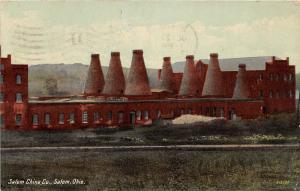 E70/ Salem Ohio Postcard Columbiana County 1911 Salem China Co Factory Pottery 5