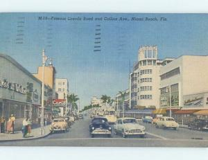 Linen OLD CARS & SHOPS ON LINCOLN ROAD Miami Beach Florida FL F1153