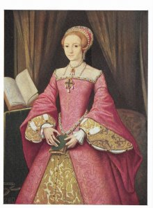 Portrait of Queen Elizabeth 1 by Unknown Artist c1558  4 by 6
