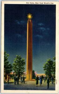 1939 NY World's Fair Postcard Railroads on Parade DeWitt Clinton & Stage Coach