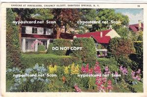 Gardens at Inniscarra, Chauncy Olcott, Saratoga Springs NY,