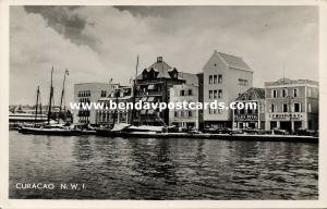 curacao, N.A., WILLEMSTAD, Waterfront Harbor Entrance (1950s) Salas RPPC