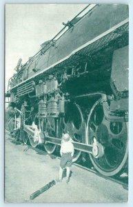 NORTHERN PACIFIC Train Locomotives ROLLER BEARING POWER North Coast Ltd Postcard