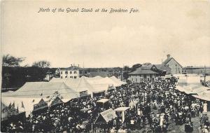 Brockton MA~Brockton Fair~North Of Grand Stand~Oct 2-3-4-5~c1910 Postcard