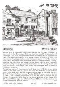 Postcard Local History Card, Askrigg Wensleydale Yorkshire by Gatehouse Prints 2