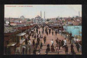 060346 CONSTANTINOPLE Karakeuy bridge Vintage PC