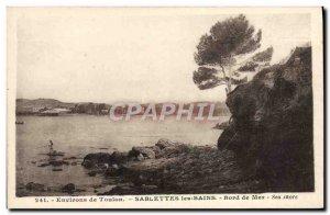 Old Postcard surroundings Toulon Sablettes Les Bains Seaside