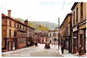 Vintage Reproduction Holmfirth Postcard, Victoria Street, Yorkshire 88C