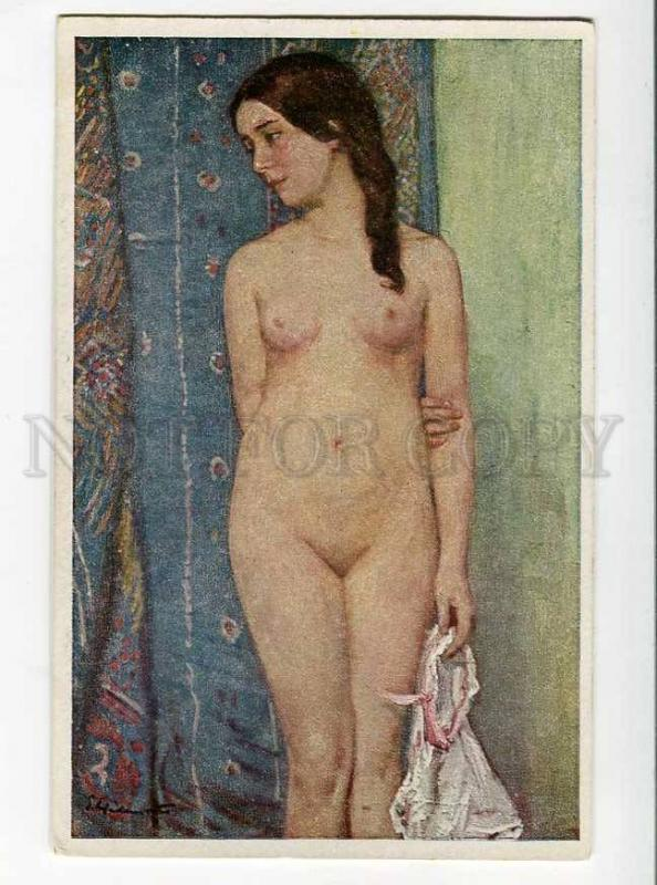 264637 NUDE Girl EVA Eve by Ernst HEILEMANN Vintage Color PC