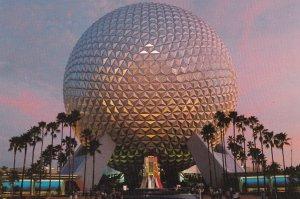 ORLANDO, Florida,1970s; Spaceship Earth