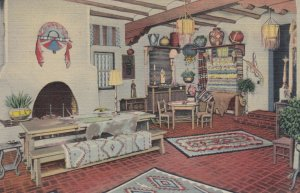 SANTE FE, New Mexico, 1930-40s; A Corner of The Indian Room, La Fonda Hotel