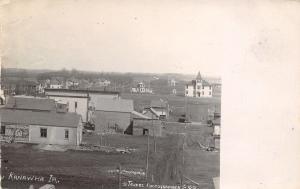 Kanawha IOWA Birdseye of Clothing Concern~School House~Many Homes RPPC c1910