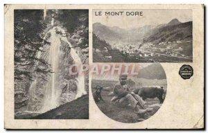 Old Postcard Le Mont Dore Berger Chie Menier Chocolate Cow