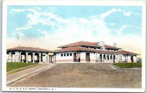 Westerly, Rhode Island Postcard N.Y.N.H.&H. Depot Railroad Station - Unused