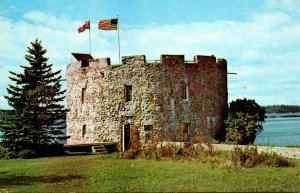 Maine Pemaquid Beach Historic Fort William Henry 1988