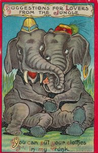 Lovers for Jungle , Elephants , You can put your clothes in my trunk, 1909
