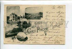 3172135 CZECH REPUBLIC GRUSS aus GROSS PRIESEN RPPC 1897 year