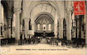 CPA GIVORS CANAL Interieur de l'Église N.D. (462328)