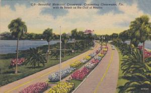 Beautiful Memorial Causeway Clearwater Florida Curteich