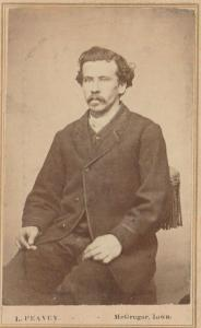McGregor IA~Peavey CDV 1865~Man w/Moustache~Soul Patch~Unkempt Hair~Chair Tassel