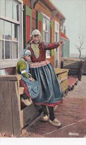 Netherlands Girls From Marken In Traditional Costume Advertising C Schrack & ...
