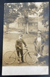 Mint USA Real Picture Postcard Harry Ford & Frank Anderson With Bike New York