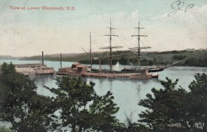 WEYMOUTH , Nova Scotia, Canada, 1907 ; Clipper Ship at Pier