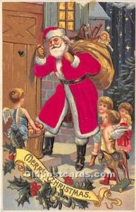 Santa Claus Postcard Old Vintage Christmas Post Card 1908