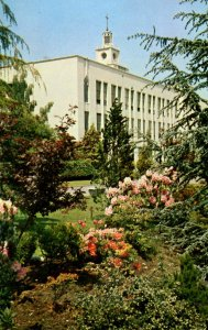 WA - Seattle. Seattle University, Liberal Arts Building, Gardens